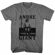 Andre The Giant Shirt Tall Dark Grey T-Shirt