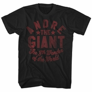 Andre The Giant Shirt The 8Th Wonder Of The World Black T-Shirt