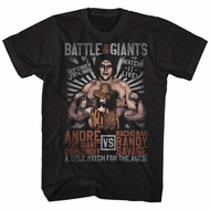 Andre The Giant Shirt VS Macho Man Randy Savage Black T-Shirt