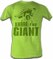 Andre The Giant T-Shirt – Andre Green Neon Mint Heather Adult Tee