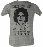 Andre The Giant T-Shirt Giant Shirt Wrestling Gray Heather Tee Shirt