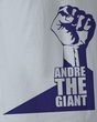 Andre The Giant T-Shirt - P Fist Wrestling Silver Adult Tee Shirt
