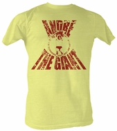 Andre The Giant T-Shirt Real G Wrestling Bright Yellow Heather Tee