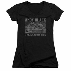 Andy Black Juniors V Neck Shirt The Shadow Side 2 Black T-Shirt