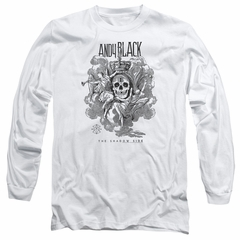 Andy Black Long Sleeve Shirt The Shadow Side White Tee T-Shirt
