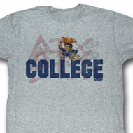 Animal House Shirt Delta Adult Heather Grey Tee T-Shirt
