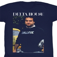 Animal House Shirt Delta House Adult Navy Tee T-Shirt