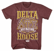 Animal House Shirt Toga Party 78 Maroon Heather T-Shirt