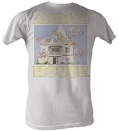 Animal House T-Shirt - Cartoon Adult Dirty White