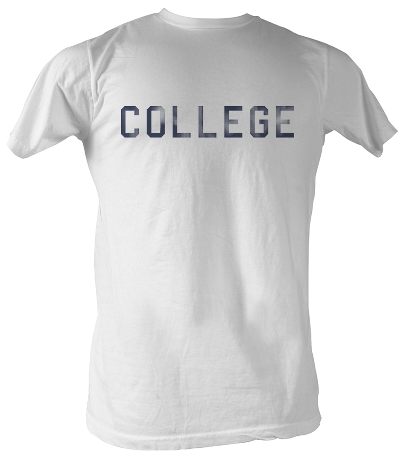 Animal House T Shirt Distress College Adult White Tee
