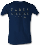 Animal House T-shirt Movie Faber College 1963 Adult Navy Blue Shirt