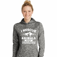Animal Rescue Ladies Moisture Wicking Hoodie