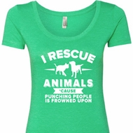 Animal Rescue Ladies Scoop Neck Shirt