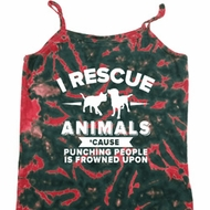 Animal Rescue Ladies Tie Dye Camisole Tank Top