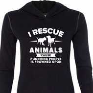 Animal Rescue Ladies Tri Blend Hoodie Shirt
