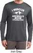 Animal Rescue Mens Dry Wicking Long Sleeve Shirt