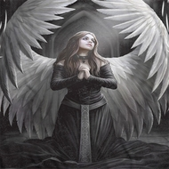 Anne Stokes Angels Prayer Sublimation Shirts