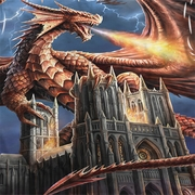 Anne Stokes Dragon Cathedral Sublimation Shirts