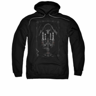 Anne Stokes Hoodie Candle Light Black Sweatshirt Hoody