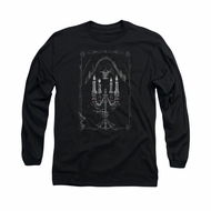 Anne Stokes Shirt Candle Light Long Sleeve Black Tee T-Shirt