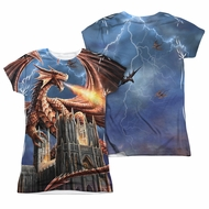 Anne Stokes Shirt Dragon Cathedral Sublimation Juniors Shirt