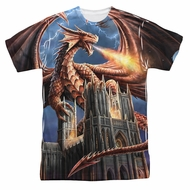Anne Stokes Shirt Dragon Cathedral Sublimation Shirt