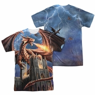 Anne Stokes Shirt Dragon Cathedral Sublimation Shirt Front/Back Print