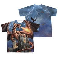 Anne Stokes Shirt Dragon Cathedral Sublimation Youth Shirt