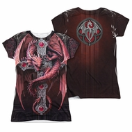Anne Stokes Shirt Dragon Cross Sublimation Juniors Shirt
