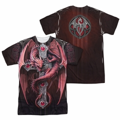 Anne Stokes Shirt Dragon Cross Sublimation Shirt Front/Back Print
