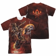Anne Stokes Shirt Hell Rider Sublimation Shirt Front/Back Print