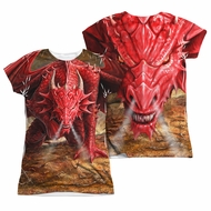Anne Stokes Shirt Red Dragon Sublimation Juniors Shirt