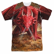 Anne Stokes Shirt Red Dragon Sublimation Shirt