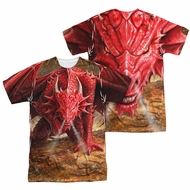 Anne Stokes Shirt Red Dragon Sublimation Shirt Front/Back Print