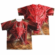 Anne Stokes Shirt Red Dragon Sublimation Youth Shirt