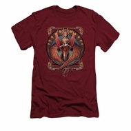 Anne Stokes Shirt Slim Fit Red Wings Cardinal T-Shirt