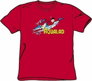 Aqualad T-shirt - Aqualad Garth Tempest DC Comics Adult Red Tee