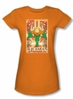 Aquaman Juniors T-shirt - DC Comics Aquaman Orange