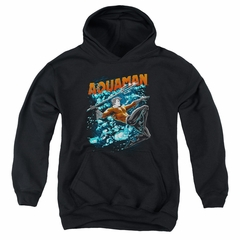 Aquaman Kids Hoodie Bubbles Black Youth Hoody