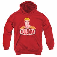 Aquaman Kids Hoodie Sign Red Youth Hoody