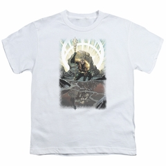 Aquaman Kids Shirt Reflection White T-Shirt