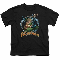Aquaman Kids Shirt Ruler Of The Seas Black T-Shirt
