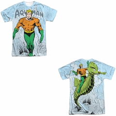 Aquaman Shirt Classic Look Sublimation Shirt Front/Back Print