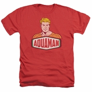 Aquaman Shirt Sign Heather Red T-Shirt