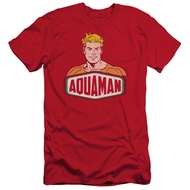 Aquaman Slim Fit Shirt Sign Red T-Shirt