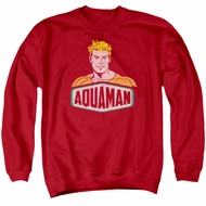 Aquaman Sweatshirt Sign Adult Red Sweat Shirt