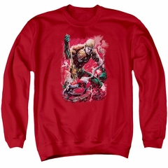Aquaman Sweatshirt Stabbed Adult Red Sweat Shirt