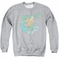 Aquaman Sweatshirt Wave Adult Athletic Heather Sweat Shirt
