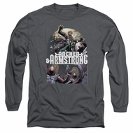 Archer & Armstrong Long Sleeve Shirt Dropping In Charcoal Tee T-Shirt