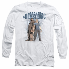 Archer & Armstrong Long Sleeve Shirt Stare Down White Tee T-Shirt